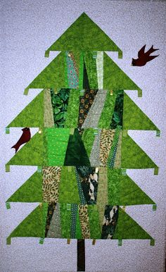 quilted tree for a small space