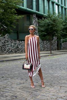Striped Sunglasses: Illesteva (also love these striped sunglasses) Dress (also got this romper). Shoes: Stuart Weitzman. Bag: Chanel. Choker: Bauble Bar (also love this one)