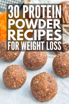 shake to lose weight whey 30 Protein Powder Recipes to Help You Feel Full and Lose Weight 30 Protein Powder Recipes for Weight Loss Whey Protein Bars, Whey Protein Recipes, Protein Desserts, Protein Powder Recipes, Protein Snacks, High Protein, Baking With Protein Powder, Protein Power, Protein Muffins