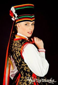 Folk costume from Kurpie Zielone, Poland