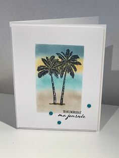 Stampin Up, Beach Cards, Retirement Cards, Card Making Tutorials, Masculine Cards, Homemade Cards, Palm Trees, Cookies Et Biscuits, Mini
