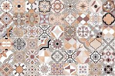 Love the uniqueness of each tile and the muted colours keep it from becoming too busy. Kasbah 45x45cm - Kasbah - Wall Tiles