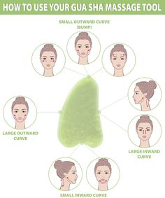 Gua sha facial is a practice of using a scraping massage tool to apply gentle pressure and massage the skin, to make it frimer, tighter and plumper. Yoga Facial, Acne Facial, Face Yoga, Facial Care, Facial Cleanser, Facial Masks, Facial Scrubs, Gua Sha Massage, Face Massage