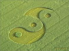 Crop circles | The Yin-Yang-Yang formation which is on the side of the hill ...