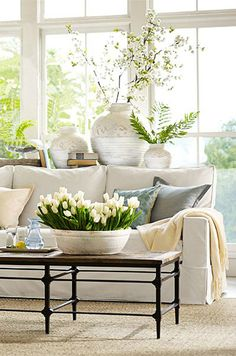 calm fresh lightful living room