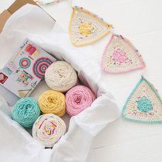 So sweet! {Crochet} Flower Sprinkles Bunting Pattern by RedAgape