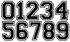 """Képtalálat a következőre: """"sport number fonts"""" Jersey Font, Number Tattoos, Number Tattoo Fonts, Number Fonts, Number 7, Sports Fonts, Football Fonts, Pattern Texture, Number Stencils"""