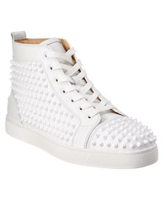 CHRISTIAN LOUBOUTIN Christian Louboutin Louis Spike Leather High Top Sneaker. #christianlouboutin #shoes #