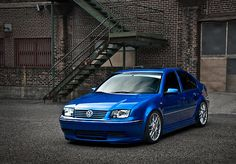 Sky blue VW Jetta GLI with turbo. This was my husbands baby! If i can ever find and afford one for sale in this color im getting it for him! Vw Jetta Mk4, Vw Passat, My Dream Car, Dream Cars, Wolkswagen Golf, Vw Tdi, Volkswagen Golf Mk1, Girly Car, Vw Cars