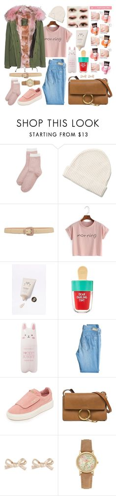 """""""Korean Dream"""" by xxpink-candyxx ❤ liked on Polyvore featuring Liana Clothing, Etro, It's skin, SkinCare, Etude House, AG Adriano Goldschmied, Puma, Chloé, Kate Spade and Mr & Mrs Italy"""