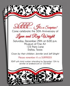 surprise anniversary invitations templates | Surprise Anniversary Party Invitations free download. Excellent ...