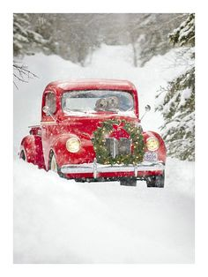 Amazon.com : Avanti Press Christmas Cards, Old Fashioned Truck, 20 Count (32561) : Office Products