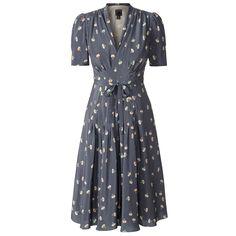 Orla Kiely Silk Crepe Dancing Girls Tea Dress