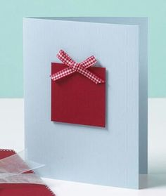 Simple Christmas card - would also work well as a birthday card