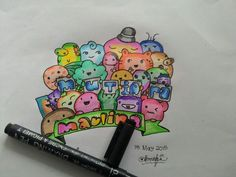 #doodleart #doodle #colourdoodle #indonesiandoodle