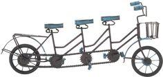 "Bayden Hill Metal Wood 3 Seat Bicycle 20""W, 10""H"