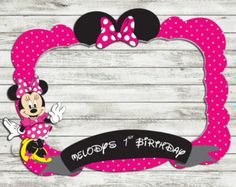 birthday party photo booth frame Customize photo di IRMdesgn
