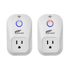 Hausbell W701 Smart WiFi Plug Wireless Remote Control Electrical Outlet Switch for Household Appliances 2 Pack