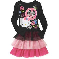 Hello Kitty Girls Long Sleeve Dress