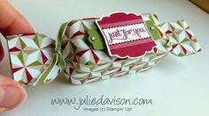 Julie's Stamping Spot -- Stampin' Up! Project Ideas Posted Daily: VIDEO: Envelope Punch Board Christmas Cracker Box Tutorial