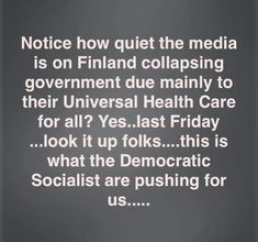 more news you'll never hear from the mainstream media - nor the newly-minted darling leaders of the revitalized Socialist Democratic Party fascists . Liberal Hypocrisy, Liberal Logic, Socialism, Communism, Stupid Liberals, Democratic Socialist, Democratic Party, Health Care For All, Political Quotes