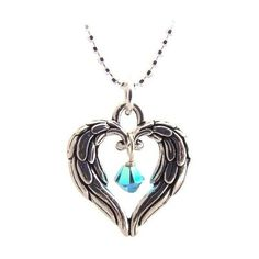 Items similar to Angel wings heart necklace on Etsy ❤ liked on Polyvore featuring jewelry, necklaces, angel wing jewelry, angel wing heart necklace, heart jewelry, heart shaped necklace and heart jewellery