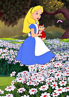alice in wonderland  *and sweet dinah. i want a scottish fold kitten to name dinah.*