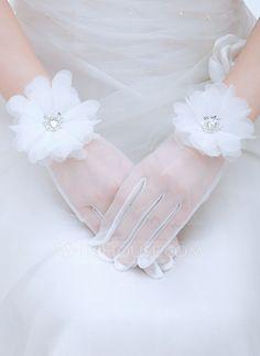 Voile Wrist Length Bridal Gloves (014059694) - JJsHouse