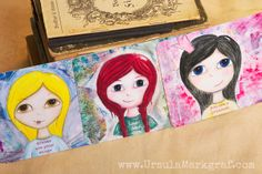 Reminders from the little girl inside you - by Ursula Markgraf - Mixed media postcard collection <3