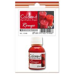 Colorant liquide pour bougie Rouge x27ml