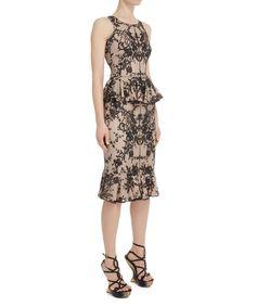 Floral Lace Ruffle Detail Skirt ~ Alexander McQueen