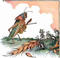 The Ants and the Grasshopper - Aesop's Fables for Children, 1919