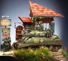 Sherman in Normandy 1:35 by Myker ML.