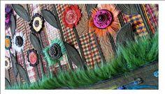 Textilný obraz-lúka plná kvetov