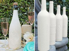Love this recycling idea! Use Puff Paint to decorate the bottle and then paint it... More ideas at Bottles Up! 20 Ways to Repurpose Your Bottles | Brit + Co.