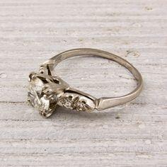 Image of .90 Carat Old European Cut Diamond Engagement Ring