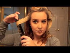 How to curl short hair with a flat iron - YouTube