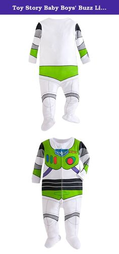 Toy Story Baby Boys Buzz Lightyear Stretchie (6-9 Months). Screen art replica of Buzz Lightyears uniform Full frontal zipper Snap over zipper at collar Ribbed trim and cuffs Attached slipper feet with no-slip tread.