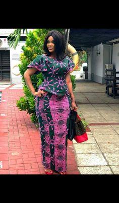 Latest Ankara Styles 2018 - Ankara Styles - Ankara gown styles Love the Ankara Skirt And Blouse, African Maxi Dresses, African Fashion Ankara, African Inspired Fashion, Latest African Fashion Dresses, African Dresses For Women, African Print Fashion, African Attire, Ghanaian Fashion