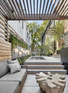Photo 2 of 9 in Sonoma in the City by dSPACE Studio - Dwell Diy Pergola, Wood Pergola, Outdoor Pergola, Pergola Shade, Backyard Patio, Backyard Landscaping, Outdoor Spaces, Outdoor Living, Pergola Ideas