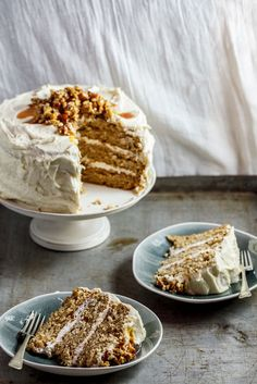 Sweet Potato Cake with Maple Buttercream. Can I make a cake with kumara in it? Seems kinda wrong, but looks so good . . .