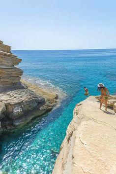 Preveli beach in Crete island, Greece.