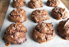 Salted Caramel Brownie Cookies.  Oh dear.