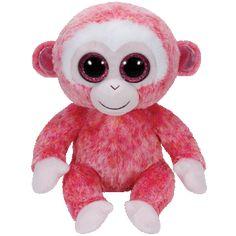 Ty Beanie Boos Ruby Monkey Medium