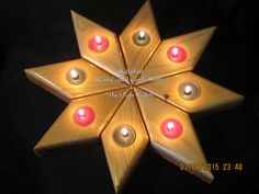Items similar to Wooden Star Tealight Candle Holder, 8 Piece Set, Home Decor, Make your own design. Great Gift Idea, Valentines on Etsy Candle Craft, Candle Lamp, Tea Light Candles, Tea Lights, Wooden Tea Light Holder, Wooden Candle Holders, Essential Oil Shelf, Bazaar Crafts, Wooden Stars