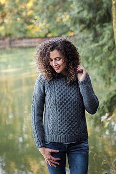 Honeycomb Sweater knitting pattern - $5