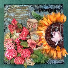 This vintage post card canvas was featured on DecoArt's Mixed Media Blog.  Here is the link for a complete pictorial tutorial: http://decoart.com/mixedmediablog/project/651/vintage_postcard_canvas