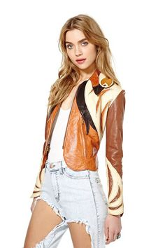 """Nasty Gal Goes Old-School, Moves Back To eBay #refinery29  http://www.refinery29.com/2014/05/67692/nasty-gal-ebay-sale#slide10  1970s East West Musical Instruments Rare Collectible Leather """"Parrot Jacket"""""""