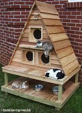 Image result for Homemade Cat House