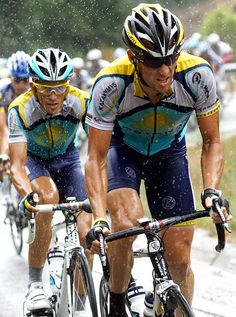 Lance Vs. Contador  Lance inspires me and always has, but the fact that he used drugs makes me sad. People are hard on him saying that he cheated and doesn't deserve it but he overcame cancer [not an easy thing to do] and still battled to win SEVEN TOUR DE FRANCE so he deserves respect.